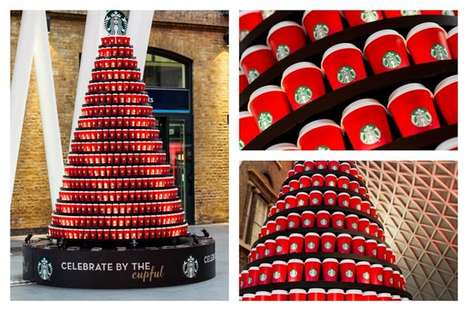 Coffee Cup Christmas Trees - This Starbucks Christmas Tree is Gingerbread Latte-Scented
