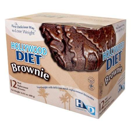 Meal Replacement Brownies - Eating Four of These Hollywood Diet Treats Substitutes Breakfast & Lunch