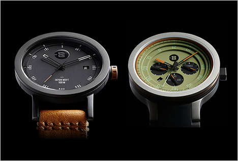 Layered Steel Timepieces - These Minus-8 Traditional Watches Focus on Design Quality Over Technology