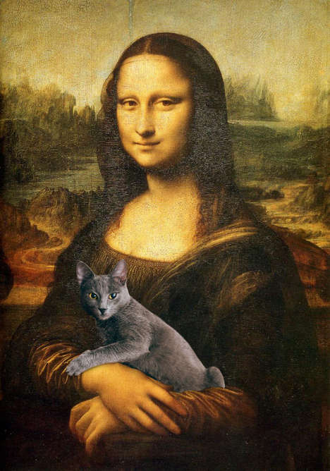 Photo-Bombing Cat Art - This Romanian Artist Superimposed His Cat onto Classic Paintings