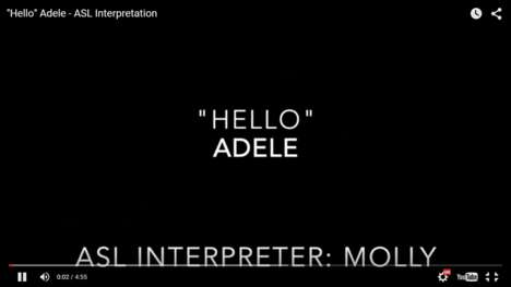 Sign Language Music Videos - This ASL Music Video Covers Adele's Hit Single 'Hello'