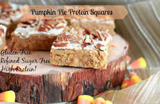 Protein Pumpkin Squares - These Homemade Dessert Squares are Secretly Filled with Protein