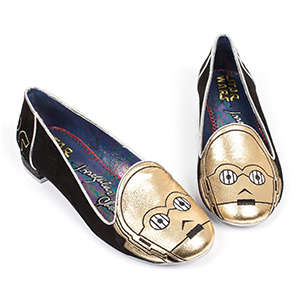 Galatic Sci-Fi Flats - These Dainty Ballet Slippers are Decorated with Star Wars Designs