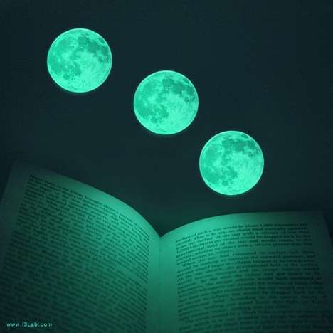 Glowing Celestial Stickers - These Realisic Full Moon Decals Conveniently Glow-in-the-Dark