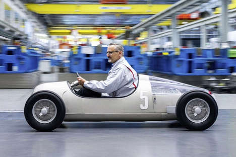 3D-Printed Mini Cars - The Audi Brand Create a 3D-Printed Car Mimicking Its 'Union Type C'