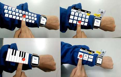 Virtual Arm Keyboards - The 'Armkeypad' is a Virtual Keyboard That Displays on Your Arm