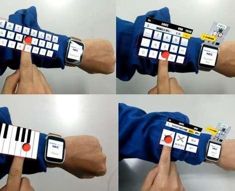 Virtual Arm Keyboards