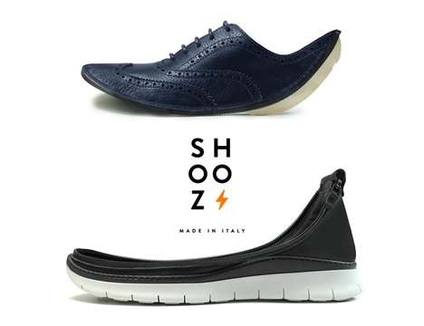 Modular Footwear - Shooz Travel Shoes are Designed to be Interchanged for Flexibility and Comfort