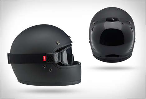 70s-Inspired Bike Helmets - The Biltwell Gringo Helmet Boasts Retro Style with Modern Features