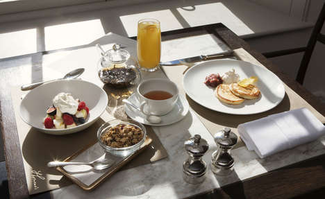 Branded Breakfast Menus - A New Luxurious Breakfast Menu is Now Offered at Burberry's Flagship