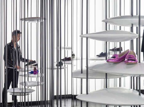 Fashion-Forward Steel Boutiques - This Shanghai Store's Interior Resembles a Forest of Steel Bars