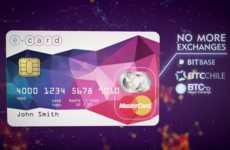 Cryptocurrency Payment Cards - The E-Coin Bitcoin Debit Card Accepts Payments Like a Credit Card