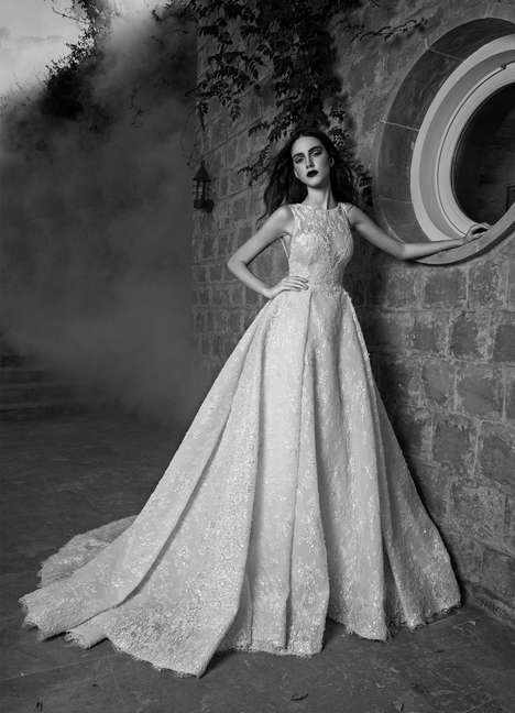Monochromatic Bridal Photos - Zuhair Murad's Bridal Fall Lineup was Captured in an Alluring Filter