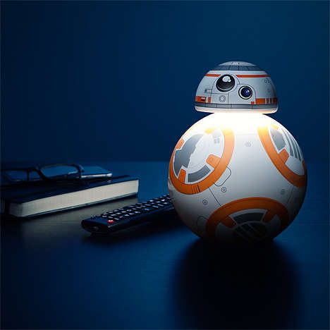 Sci-Fi Touch Lamps - This BB-8 Desktop Star Wars Lamp Features Three Different Light Settings