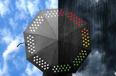 Color-Changing Umbrellas - This Tech-Savy Parasol Design Changes Hues When in Contact with Water