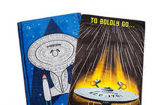 Retro Sci-Fi Towels - These Star Trek Enterprise Beach Towels Feature Old School Imagery