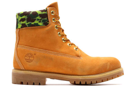Camouflage-Accented Boots - These Custom Timberland Boots were Made by Sneaker Brand 'amtos'