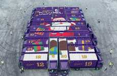 Automotive Advent Calendars - Cadbury's Holiday Calendar is Formed by a Fleet of 24 Festive Trucks