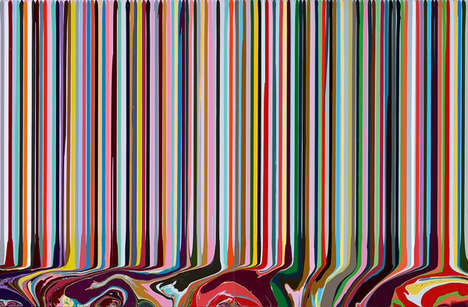 Hand-Poured Paintings - Ian Davenport Creates Vibrant Art by Pouring Gloss Paint at an Angle