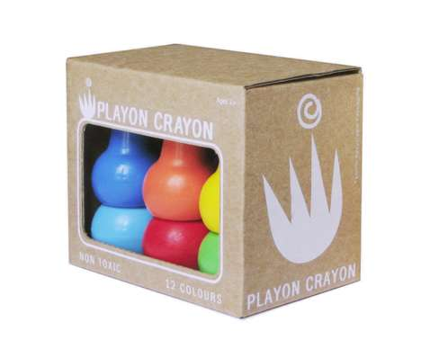 Stackable Coloring Tools - These Stackable Crayons Feature an Unusual Shape That is Easy to Grip