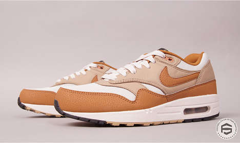 Retro Suede Sneakers - The Nike Air Max 1 Designs are Seasonally Themed with Neutral Brown Tones