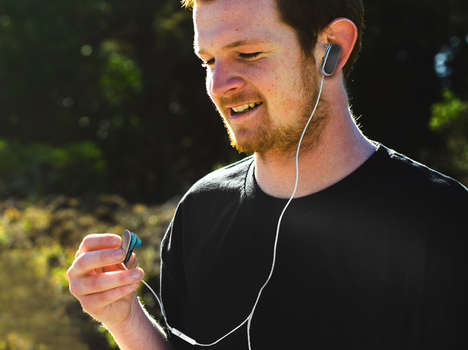 Clip-Incorporated Headphones - These Clip Earbuds by Alexey Chugunnikov Ensure the Gear Stays Put