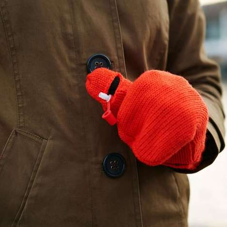 Hidden Flask Gloves - These Stylish Red Mittens Creatively Conceal a Hidden Alcohol Compartment