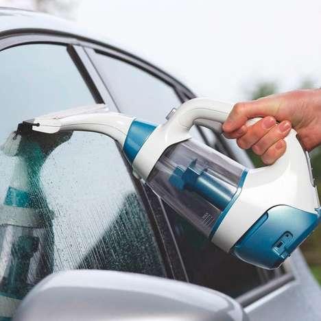 Portable Vacuum Squeegees - The Black & Decker Squeegee Vac Makes Window Cleaning a Breeze