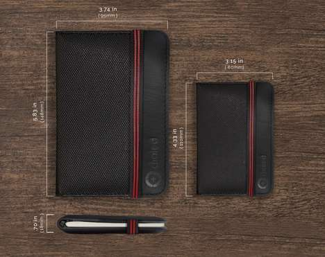 Hybrid Notebook Wallets - The Diaeled Notebook Wallet Keeps Cards, Money and Notes All in One Place