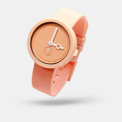 Waterproof Modular Watches - The Classic Yolk Watch Offers a Balance Coupled With Bright Color