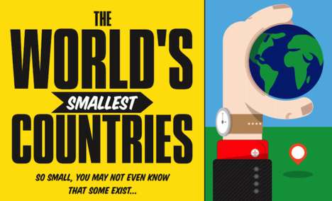 Smallest Country Guides - This Infographic Lists the World's Tiniest Nations