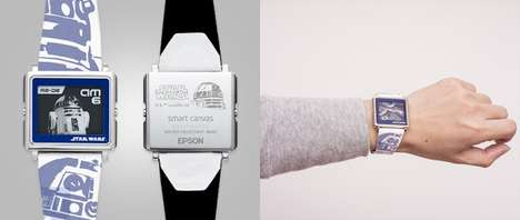 Galactic Canvas Watches - These Star Wars Timepieces Feature a Cinematic E-Ink Screen Design