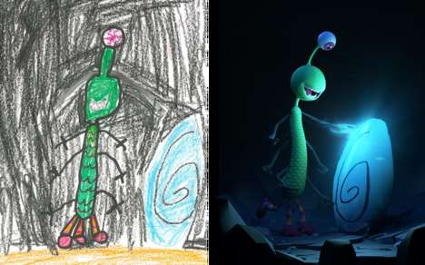 Reinterpreted Kids' Drawings - Artists in 'The Monster Project' Turns Kids' Art into Masterpieces