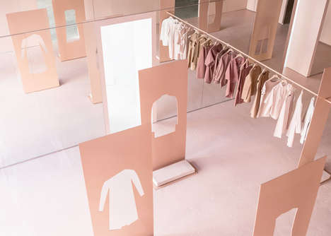 Peachy Pop-Up Interiors - This Retail Interior Matches the Clothing's Distinct Color Palette