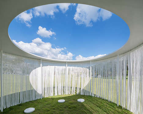 Translucent Outdoor Pavilions - This Breezy Pavilion Helps Guests Escape the Heat of the Sun