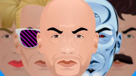 Burly Actor Cartoon Mashups - These Images Feature a Series of Retro Vin Diesel Cartoon Characters