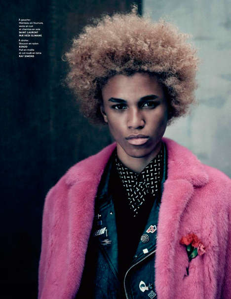 Flamboyant 70s Menswear - Vogue Hommes' 'Château Rouge' Editorial Highlights Bold and Retro Looks