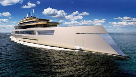 Infinity Pool Yachts - This Super-Yacht is Perfectly Symmetrical & Has a Pool Within the Ocean