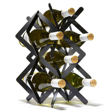 Collapsible 3D Wine Racks - This Sculptural Wine Rack is Meant to Be Displayed