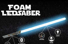 Illuminated Foam Weapons - These Light-Up 'LEDsabers' are Made from a High-Tech Foam Material