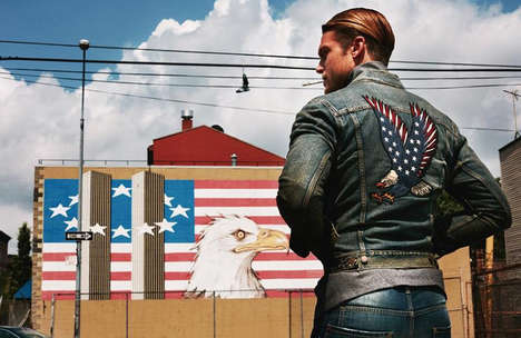 Rebellious Americana Editorials - Elle Man Vietnam's Latest Exclusive Highlights Retro USA Imagery