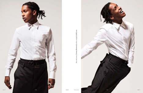 Carefree Rapper Portraits - This A$AP Rocky Fashion Feature Highlights Luxe Menswear Staples