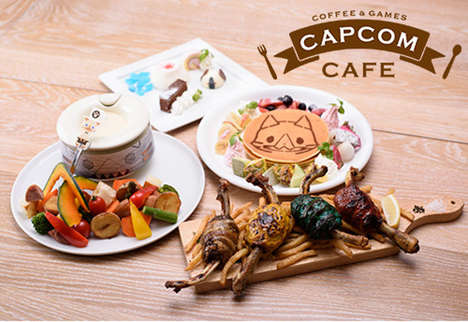 Japanese Video Game Cafes - The Capcom Cafe Serves Themed Meals and Offers Exclusive Game Previews
