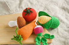 Crocheted Vegetable Toys - These Woven Baby Rattles Mimic Organic Produce