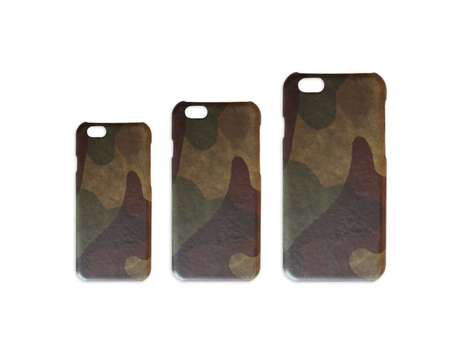 Camouflage Smartphone Cases - This Army iPhone Shield is Crafted from Luxe Lamb Leather