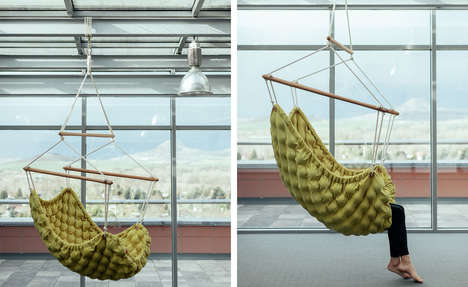 Handcrafted Massage Hammocks - The 'Swingy' Collection Offers Plush Quilt-Like Swinging Seats