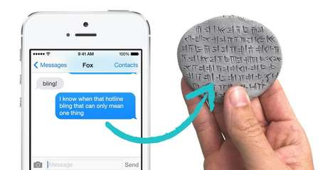 Antique Social Media Stones - This Company Turns Tweets into Custom Ancient Cuneiform Tablets