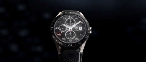 Dark Luxurious Smartwatches (UPDATE) - The $1,500 Tag Heuer Watch Looks like an Analog Timepiece
