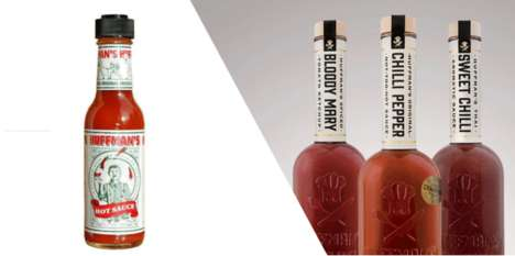 Revealing Hot Sauce Rebranding - These Hot Sauce Labels are Stripped Back to Show Off the Product