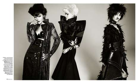 Witchy Punk Editorials - This Theatrical Fashion Story Highlights Dramatic and Sculptural Styles